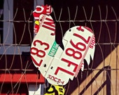 Upcycled Vintage License Plate Chicken Rooster Wall Art/Coop Art