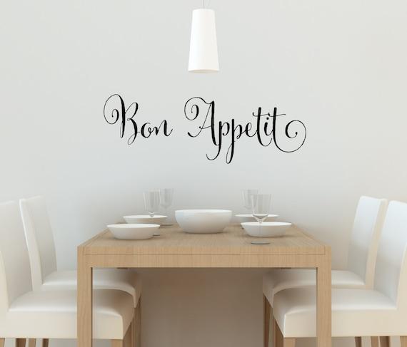 Kitchen Decals Bon Appetit Wall Decal Kitchen Vinyl Decal