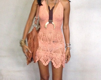 Handmade crochet dress, boho dress,beach dress 11 colors.