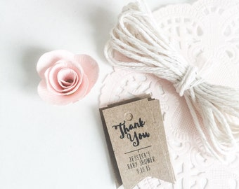 Thank You Tags. Custom Party Thank You Tags. Kraft Brown Nail Polish Favor Tags. Mini Polish Tags. Baby Shower Bridal Shower Favor Tags