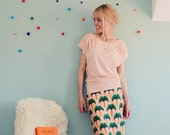 "Kimono dress ""PALM BEACH"" with a shoulder fold"