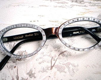 1960s vintage cat eye glasses frame new old stock