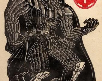 Darth Vader Linoblock Print