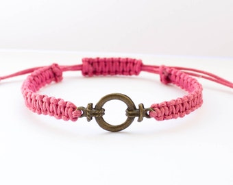 Macrame Bracelet | Bronze coloured | Charm bracelet | Stacking bracelet | Friendship bracelet | Layer bracelet | Layering bracelet | Boho