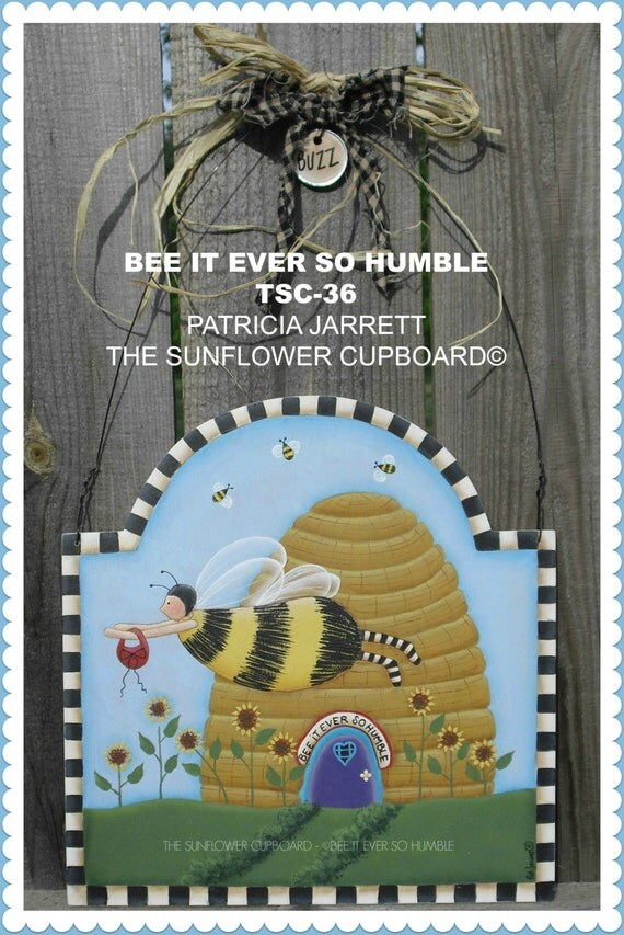 Bee it ever so humble E-PATTERN