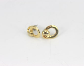 Vintage beautiful gold toned knot earrings
