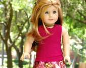 18 Inch Doll Skirt, Sunset Lily