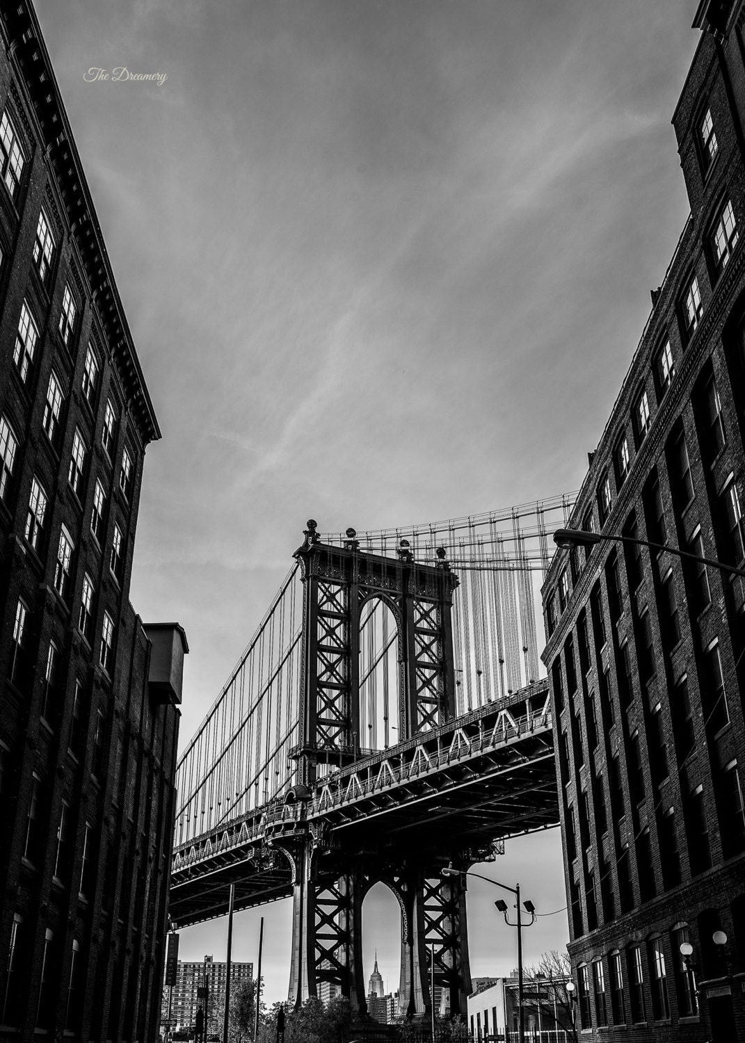 Nyc photography dumbo new york city brooklyn nyc decor black for Brooklyn bridge black and white wall mural
