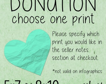 "8x10"" or 5x7"" Donation Print, Rescue Organization Donation, Animal Rescue Art, Basket Raffle Print, Fundraiser Art, Chinese Auction Art"