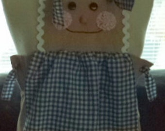 child's gingerbread costume apron in size 7-8