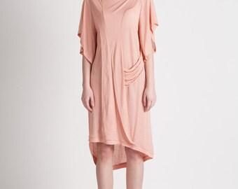 30% Season Off_Monica Kate Unsymmetrisch Tencel Dress_Pink