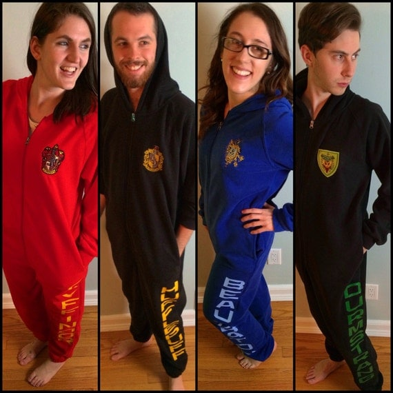 Hogwarts House Adult Onesie