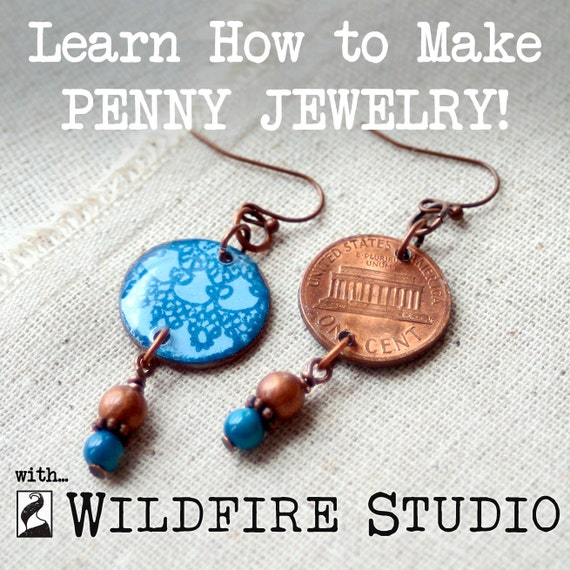 learn to make penny jewelry with wildfire studio an all