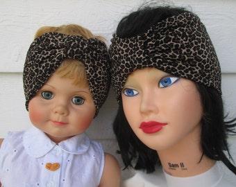 Cute Turban Headband  Ear Warmer headband headwrap ear warmer Women Headband Women Head Wrap Winter Headband animal print Headband turband