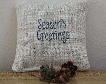 Season's Greetings Balsam fir filled sachet