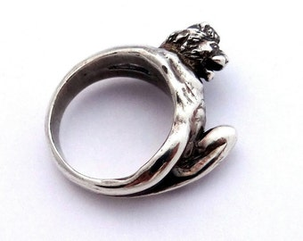 Sterling Silver Lion Ring, Lion Man, Lion, Lion King, Power Ring, Animal Ring, King Lion Ring, Lion Jewelry, Ring Lord, Lion The King