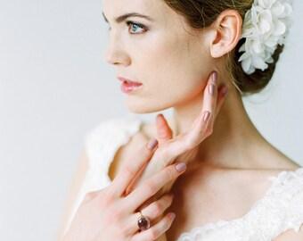 "Bridal Silk Flower, Wedding Hair Flower - ""Annabell"""