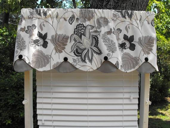 ... , scalloped vallance, window valance, window curtains, modern valance