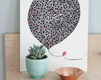 Hand Pulled Screenprint, Balloon - 'Dream Big'