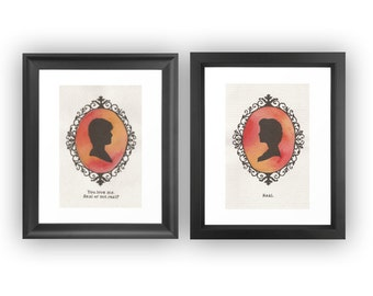 Katniss & Peeta 6 X 4 Cameo Prints. Artwork by Jade Jones