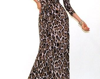 Cheetah Print Maxi, Black Print Maxi, Cruise Long Dress, Cruise Maxi Dress, Resort Maxi Dress, Resort Formal Dress,Animal Print Maxi, Gift