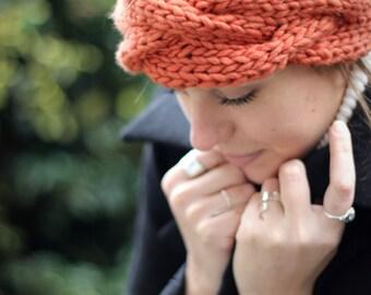 Les débutants Chunky Cable bandeau tricot Kit, apprendre à tricoter ensemble bricolage, accessoires de femmes, bande de cheveux, bande de câble torsadé