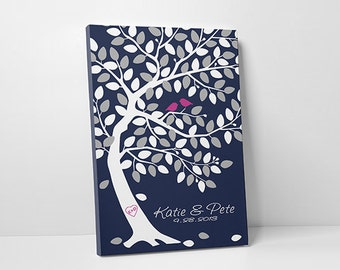 Unique Wedding Guest Book - Alternative Guestbook - Wedding Tree Guest Book - Save the Date 100-150 Guest Sign In - 16x20,20x30 or 24x36