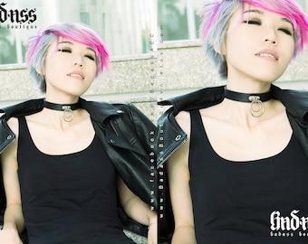 Cry Kitty - Double O Ring Choker, collar.