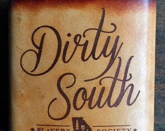 Dirty South Leather Flask