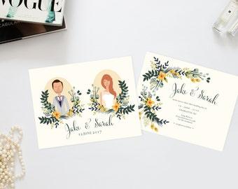 Summer Mint Julep Wedding Invitation Suite /// Couples Portrait /// Family Portrait /// Printable Wedding Invites /// DIY Wedding Invites