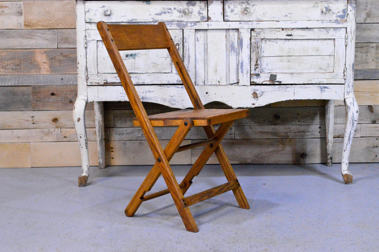 vintage wood folding chair wooden folding chair