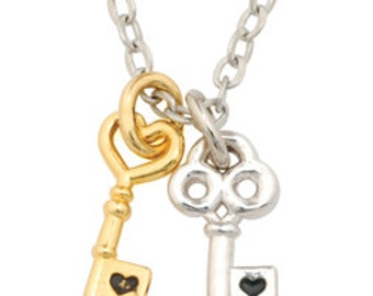 Key Necklace - Two-Tone