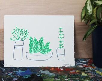 Little Plants Lithograph