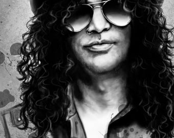 Slash - Signed Print