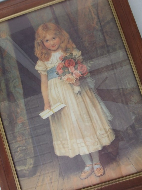 Love Letters Victorian Painting Of A Young Girl With A Big-8145