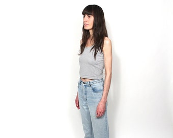 90s Faded Denim Mom Jeans - 90s Bordy Normcore High Waisted Mom Jeans - 90s Grunge Clueless Preppy Light Blue Denim Mom Jeans Size 28/30 W