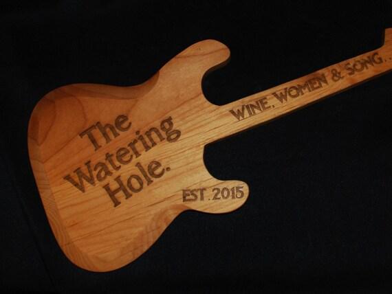 items similar to custom made hand carved personalized guitar guitar sign custom sign guitar. Black Bedroom Furniture Sets. Home Design Ideas