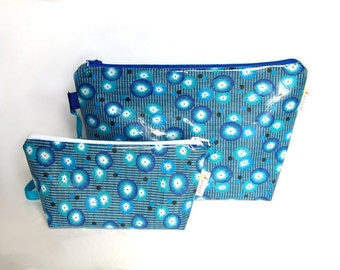 Set knitting bag and notion bag assorted, oil cloth
