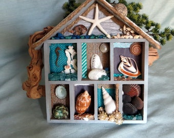 Sea Life Shadow box_Beach Decor shadow box_nautical decor