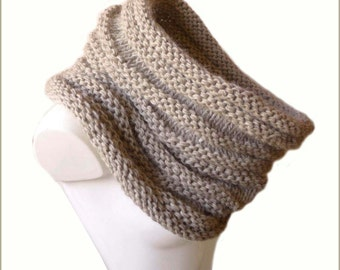 Extra Large Chunky Scarf / Womens Loop Scarf / Hand Knitted
