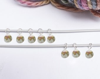 Decorative Knitting Stitch Markers : Round stitch markers Etsy