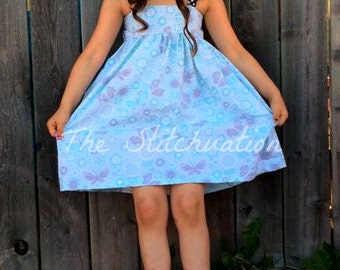 Alexia Flutter Sleeve Twirly Dress for girls toddler