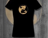 Cat Lover T shirt Ying Yang Cat Shirt Plus Size Women's Clothing Cat Gifts Womens Tshirt Christmas gifts gifts for her Cyber Monday