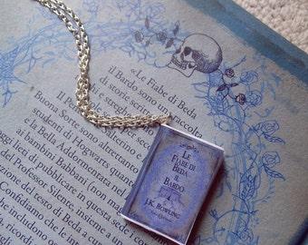 Collana miniatura libro Le fiabe di Beda il bardo - Harry Potter The tales of Beedle the bard book necklace