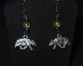 Yellow & Black Hufflepuff Earrings - H4 - Great Gift for Fans of the Books or Movies!