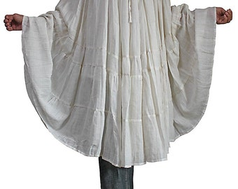 Linen Cotton Crinkle Skirt / Poncho (BGN-044-02)