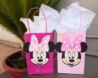 Minnie Mouse Birthday Pink, Hot Pink, Favor Gift Candy Bags