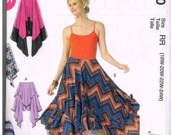McCall's M7170, Misses' Skirts, Easy, Size 18W, 20W, 22W, 24W