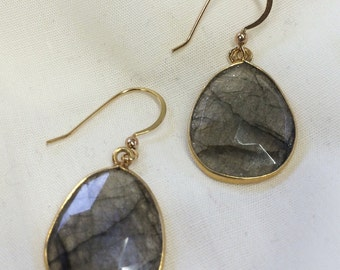 Smoky Gray Quartz Gemstone Earrings