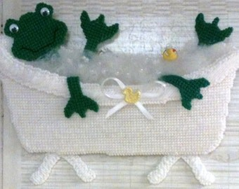 Frog Bathroom Decoration Wall Hanging Frog Lovers Bathroom Wall Decoration Needlepoint